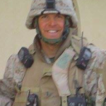 Wade in Fallujah, Iraq, 2004
